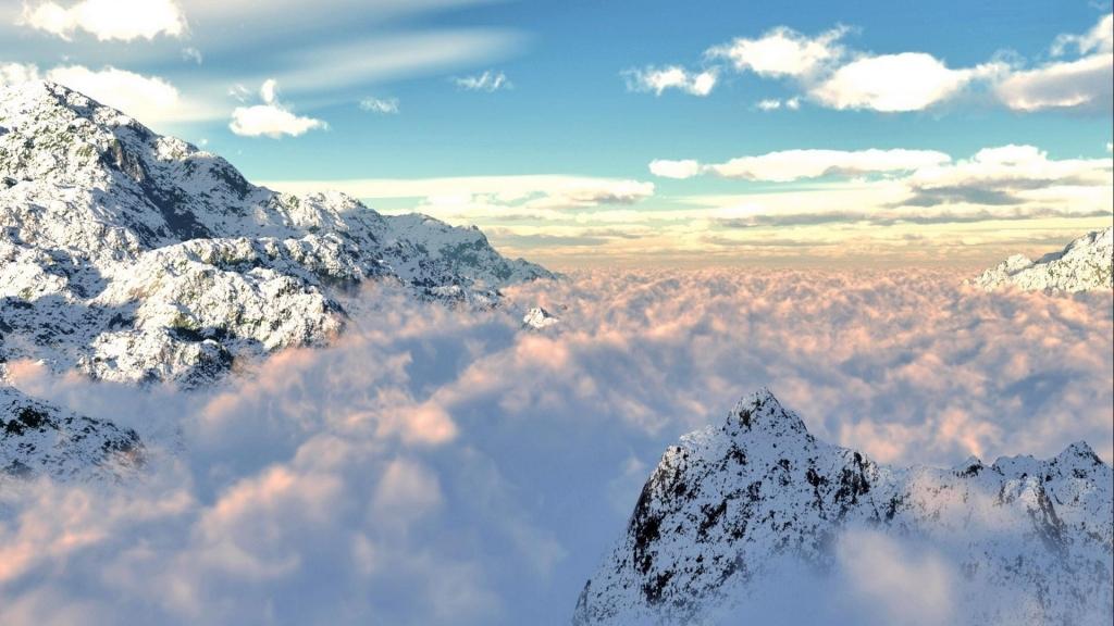 đẹp Thơ Mộng ảnh Núi Và Mây