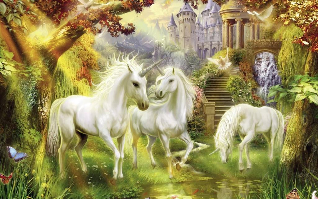 3 Con Kỳ Lân Và Lâu đài