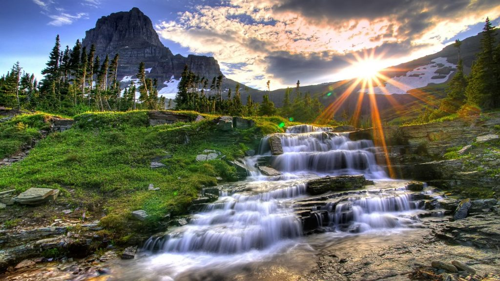 Waterfall Beautiful Background Wallpapers With Background Images Waterfall