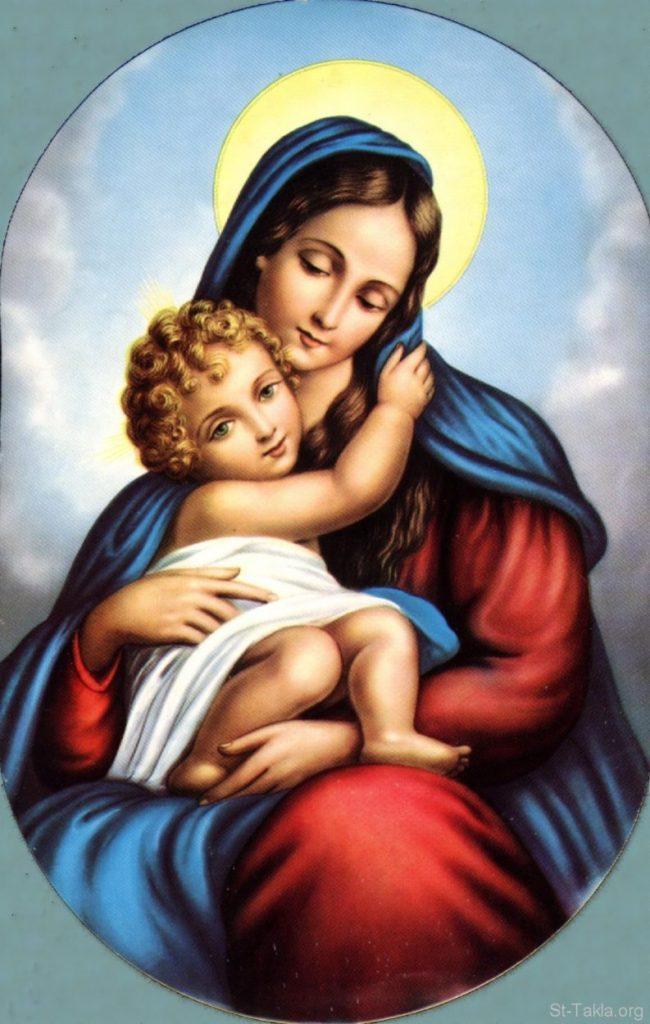 Bức tranh về Mẹ Thiên Chúa xinh đẹp