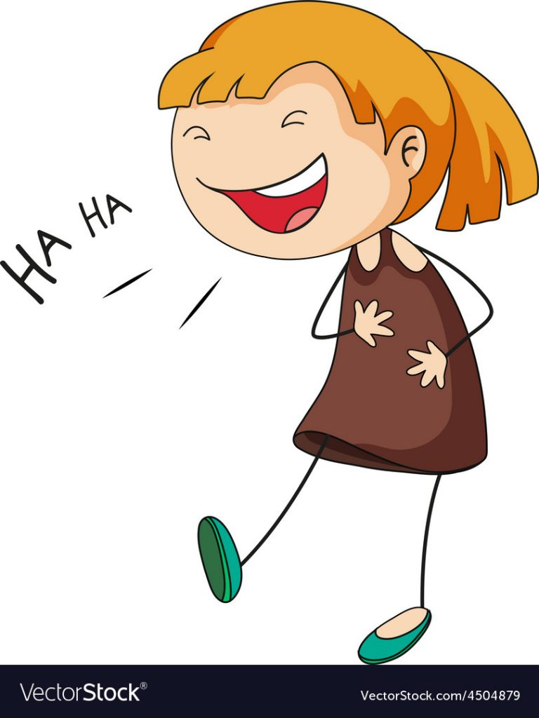 Girl-laughing-vector-4504879