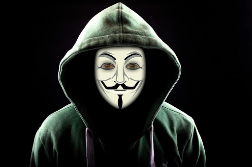 Binary Hacker Anonymous Internet Attack Mask One