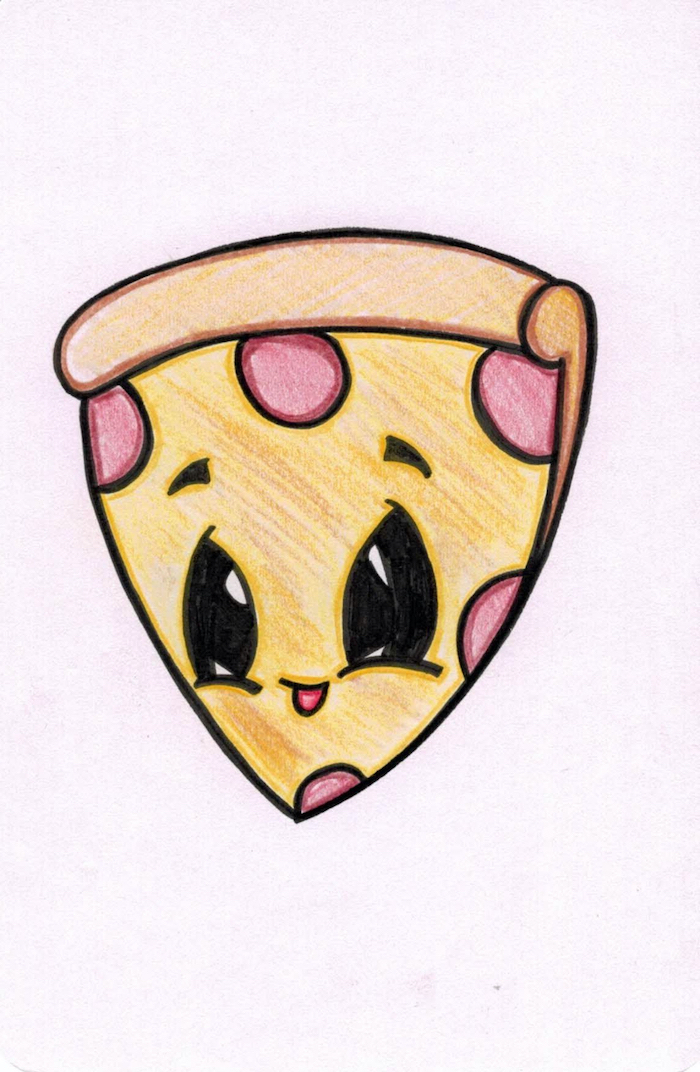 Cartoon Pizza Drawing And Pizza Cartoon In  | Art |  | Drawings, Pizza Cartoon
