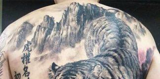 Hình Xăm Hổ Xuống Núi