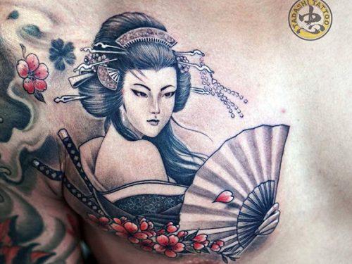 Những Mẫu Hình Xăm Geisha Nhật Bản đầy Kiêu Sa Và