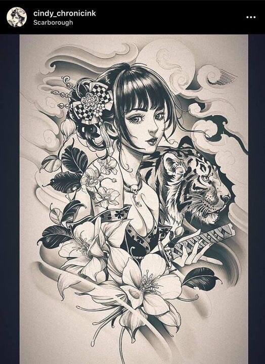 Hình Xăm Cô Gái Trung Hoa (3)