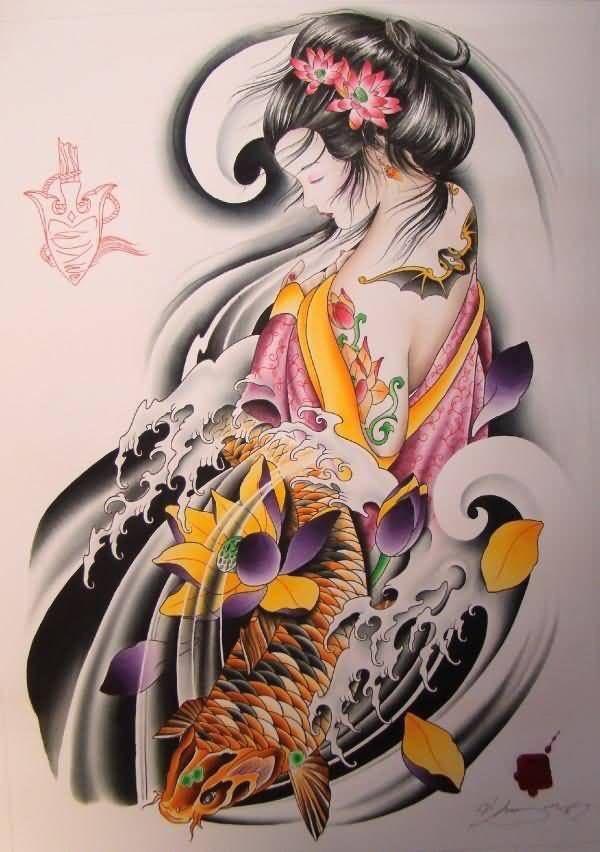 Hình Xăm Cô Gái Trung Hoa đẹp, ấn Tượng (14)