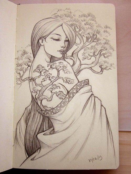 Hình Xăm Cô Gái Trung Hoa đẹp, ấn Tượng (4)