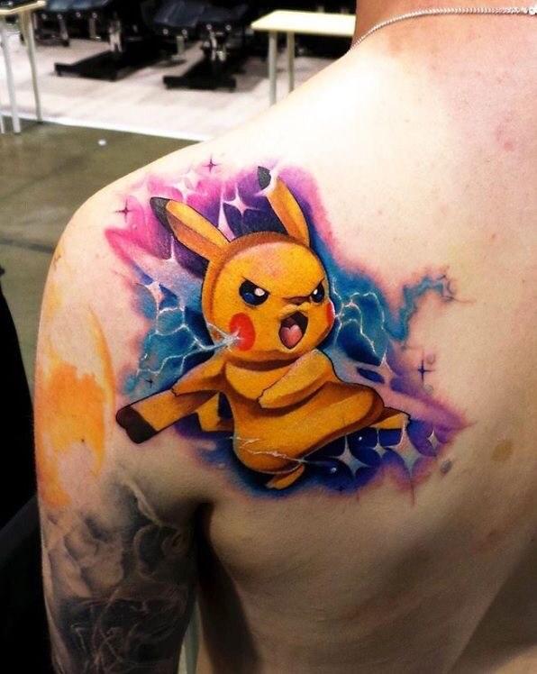 Hình Xăm Pikachu (2)